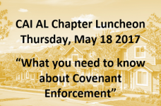 CAI Alabama Chapter Luncheon May 18th @ The Club
