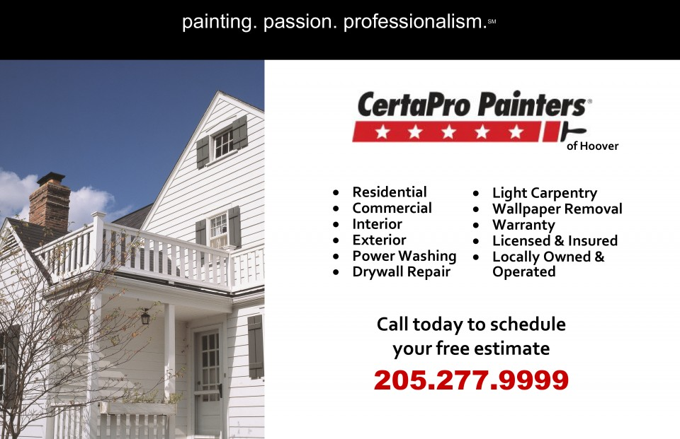 CertaPro Painters of Hoover Ad